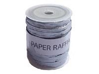 RAFFIA PAPER ROLL SILVER