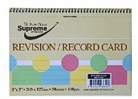 RECORD CARDS 8X5 SPIRAL PASTEL