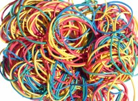 RUBBER BANDS COLOURED 100GM