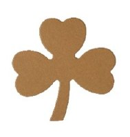 SHAMROCK LARGE KRAFT CARD 15PK