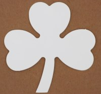 SHAMROCK LARGE WHITE CARD 15PK