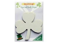 SHAMROCK LARGE WHITE CARD 20PK