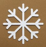 SNOWFLAKE WHITE CARD LRG PK10