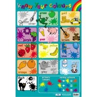 WALL CHART KNOW YOUR COLOURS