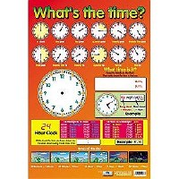 WALL CHART WHAT'S THE TIME