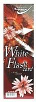 WHITE FLASH CARDS 50PK 12 X 4