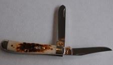 Case Amber Bone Trapper Knife