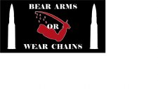 Bumper Sticker: Arms or Chains