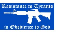Bumper Sticker: Resist Tyrants