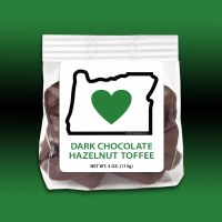 Heart In Oregon Dark Chocolate Hazelnut Toffee 4oz