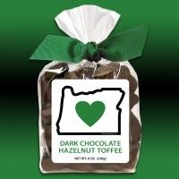 Heart In Oregon Dark Chocolate Toffee 8oz