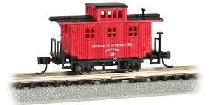 N Gauge Old-Time Wood Bobber Caboose Union Pacific 12 - 15751