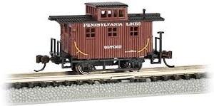 N Gauge Old-Time Wood Bobber Caboose Pennsylvania Lines 997662 - 15754