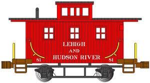 N Gauge Old-Time Wood Bobber Caboose Lehigh & Hudson River 81 - 15756