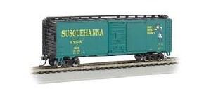 N Gauge AAR 40' Steel Boxcar New York Susquehanna & Western - 17058
