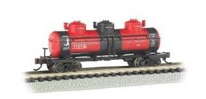 N Gauge 3-Dome Tank Car Transcontinental Oil Co. - 17154