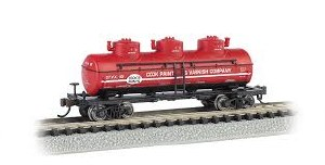 N Gauge 3-Dome Tank Car Cook Paint & Varnish Co. CPVX 101 - 17156