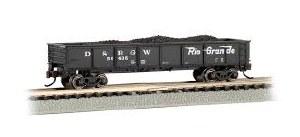 N Gauge 40' Steel Gondola w/Load Denver & Rio Grande Western 50435 - 17254