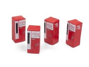 HO Gauge 1960s Coca-Cola Vending Machines (Set of 4) - 20229