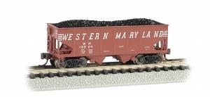 N Gauge USRA 55 Ton 2 Bay Hopper Western Maryland - 19552