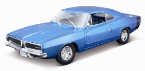 1:18 Scale 1969 Dodge Charger R/T Metallic Blue - 31387