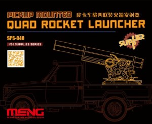 1:35 Scale SPS-040 Pickup Mounted Quad Rocket Launcher - 38551316