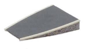 Peco ST-293 Setrack Curved Platform Stone OO//HO Gauge