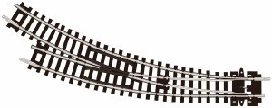 N Scale Setrack Code 80 Curved Turnout, R/H - ST44