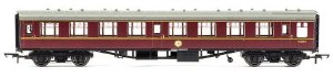 OO Gauge BR Mk1 Coach Corridor 2nd Class Maroon w/Lights - R4714