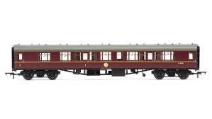 OO Gauge BR Mk1 Coach Corridor Composite Maroon w/Lights - R4715