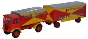 1:76 Scale AEC Matador & Trailer Robert Brothers - 76AEC019