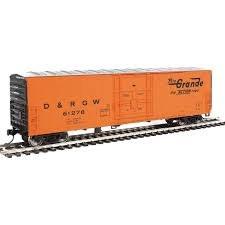 HO Gauge 50' FGE Insulated Boxcar Denver & Rio Grande Western #61278 - 910-2033
