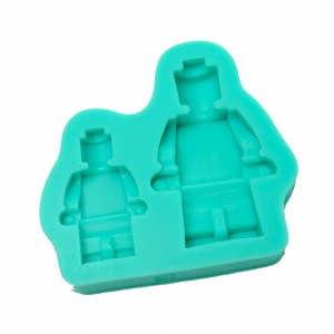 Silicone Mould Small & Large Lego Men
