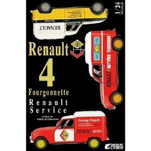 1:24 Scale Renault 4 Fourgonnette - Renault Service - 25012