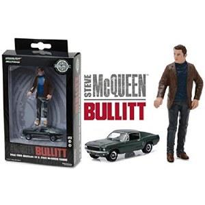 1:64 Scale Bullitt 1968 Ford Mustang GT Fastback w/1:18 Scale Steve McQueen Figure - 29931