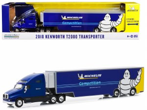 "1:64 Scale 2018 Kenworth T2000 Transporter Blue ""Michelin Competition"" - 30056"