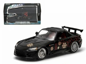 """1:43 Scale Johnny's 2000 Honda S2000 Black """"The Fast and The Furious"""" - GL86205"""