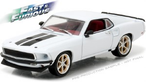 """1:43 Scale Fast & Furious 6 '69 Ford Mustang """"Anvil Halo"""" - 86236"""