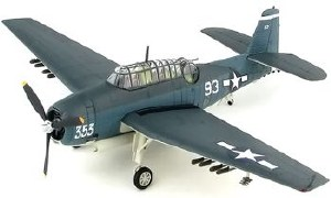 "1:72 Scale TBM-1C Avenger ""The Battle of Leyte"" White 93 of VT-15  - HA1222"
