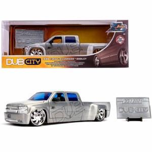 1:32 Scale 1999 Chevrolet Silverado Dooley Pickup Truck Raw Metal - JA31077