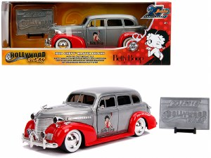 """1:24 Scale 1939 Chevrolet Master Deluxe Raw Metal and Red """"Betty Boop"""" - JA31092"""