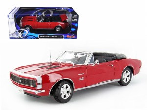 1:18 Scale 1967 Chevrolet Camaro SS 396 Convertible Red - 31684