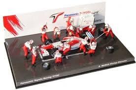 1:43 Scale Panasonic Toyota Racing TF102 A. McNish Pitstop Diorama