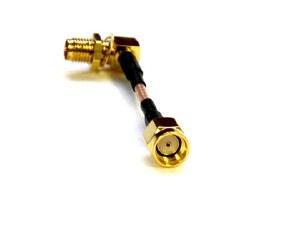 5cm RPSMA Plug To Right Angle RPSMA Jack Cable