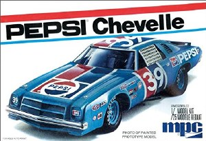 1:25 Scale #39 Pepsi 1975 Chevy Chevelle Stock Car - MPC808
