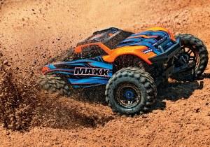 1:10 Traxxas MAXX 4WD VXL-4S Monster Truck (Orange) - TRAX89076-4