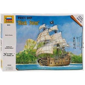1:350 Scale Pirate Ship Black Swan Snap Fit - ZV6514