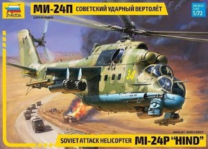 1:72 Scale Soviet Attack Helicopter MI-24P Hind - 7315