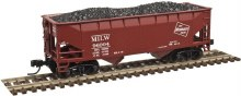 N Scale 2 Bay Offset Side Hopper Milwaukee Road #96179 - 50003112