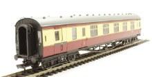 OO Gauge Branchline LMS 60ft Porthole Corridor Brake 1st BR Crimson & Cream - 39-470